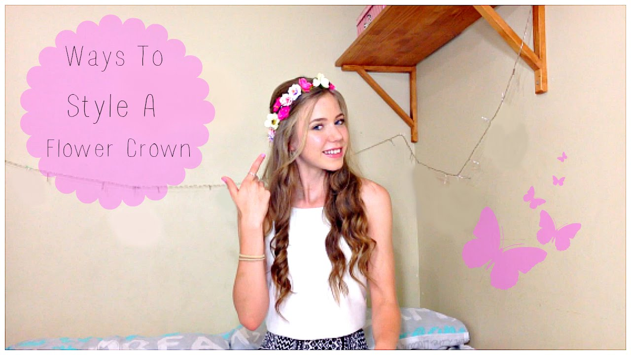 Quick and easy hairstyles flower crown edition youtube izmirmasajfo
