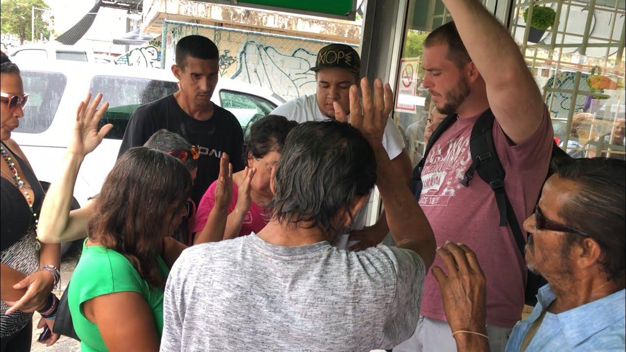 Homeless Pray To Follow Jesus In Puerto Rico