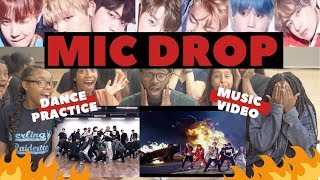 Gambar cover AMERICAN DANCERS 1st Time Reacts to BTS Mic Drop DANCE PRACTICE & M/V!!!!