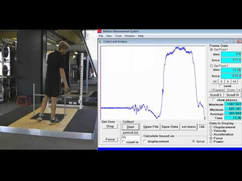 How to conduct an Isometric pull using the Fitness Technology 400S Force Plate and BMS Software.wmv