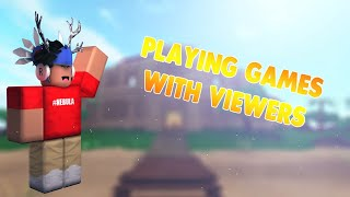 🔴[[LIVE] Playing Games w/ Viewers | GIVEAWAYS AND MORE! | (!discord !roblox !ll !dq !group)🔴