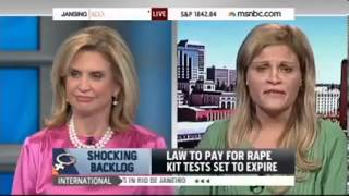 Carolyn Maloney Discusses Need to Reduce Rape Kit Backlog with Chris Jansing (MSNBC)