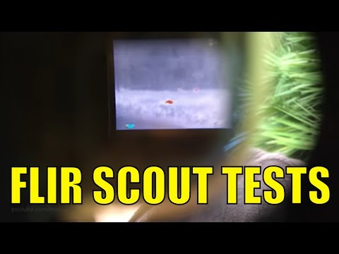 FLIR SCOUT 240 THERMAL CAMERA - ANIMAL SPOTTING TEST - Hunting Photography Wildlife
