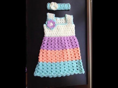 Baby dress - standard bodice 1 - easy, handmade, diy - crochet tutorial - Tamil/English