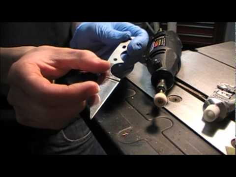 How to: Polishing knife blades (From bead blast to satin)