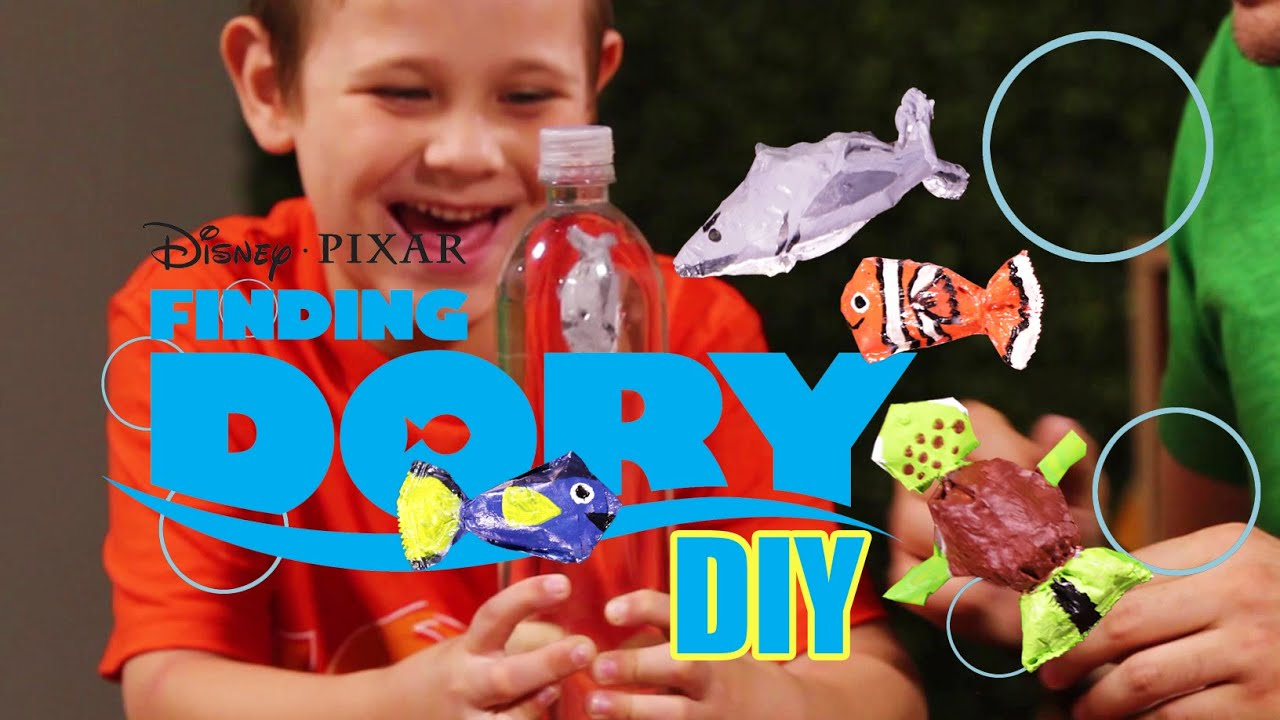Control fish with your mind finding dory crafts diy kids for Finding dory crafts for preschoolers