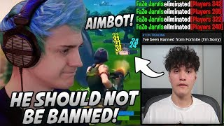Ninja Gets ANGRY & Explains Why FaZe Jarvis SHOULDN'T Be BANNED From Fortnite For Hacking!