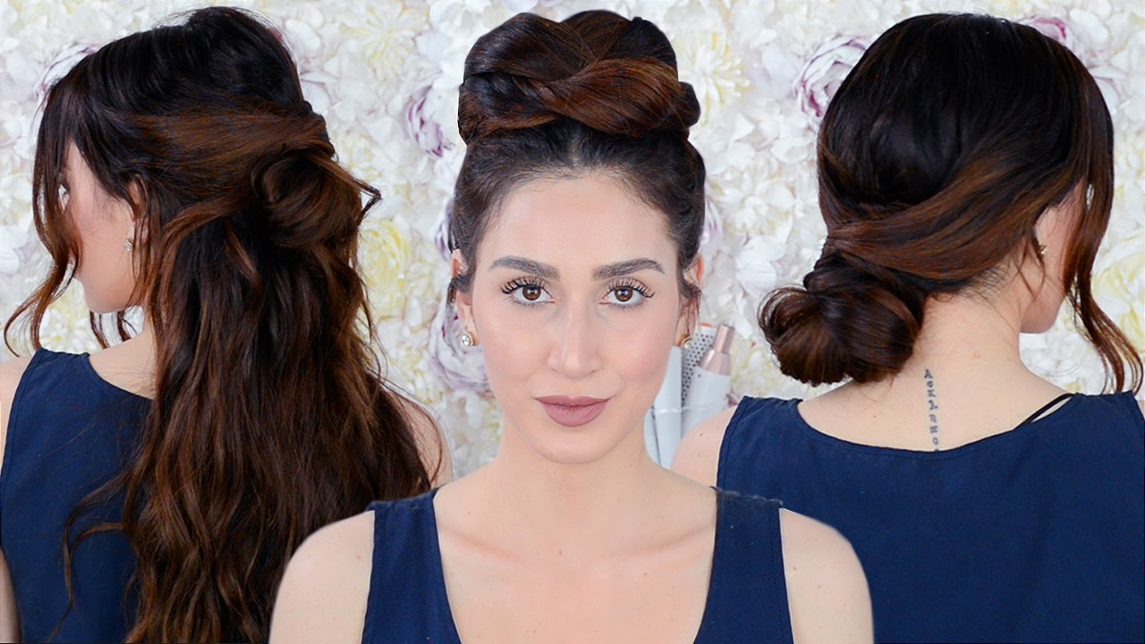 7 easy running late hairstyles