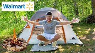 Cheap Overnight Walmart Tent Camping Challenge! (CATCH CAMP COOK)