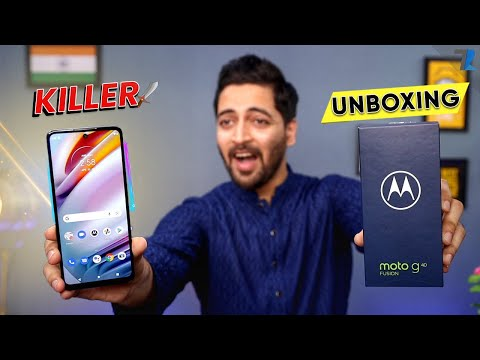 Moto G40 Fusion - Unboxing & Hands On | SD 732G | 6000 mAh | 120Hz Display | 64MP Camera