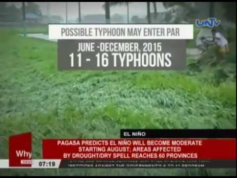 PAGASA predicts El Niño will become moderate starting August