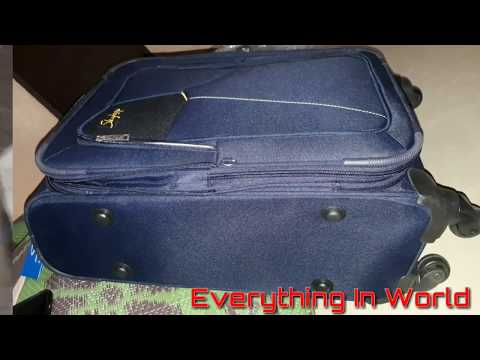 Skybag Footloose Rubik 58 CM Blue SoftSided  Carry On Trolley By Unboxeing Amazon