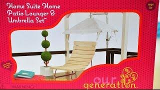 Our Generation: Patio Lounger & Umbrella Set