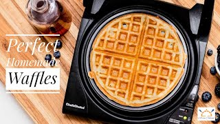 Perfect Homemade Waffles  Easy and Crispy Homemade Waffles Recipe  Asian Cooking