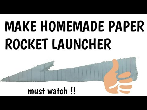 How to make homemade paper rocket launcher