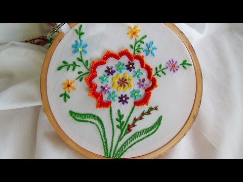 Hand Embroidery: Buttonhole stitch variation