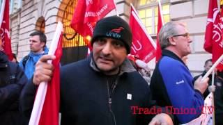 Trade Union protest to keep Belfast leisure services public 3rd March 2014