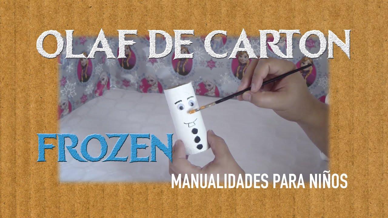 Olaf de frozen de cart n para las navidades manualidades - Centros de navidad manualidades ...