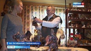 Умелец из Слободского района делает уникальные сувениры из соснового корня(ГТРК Вятка)