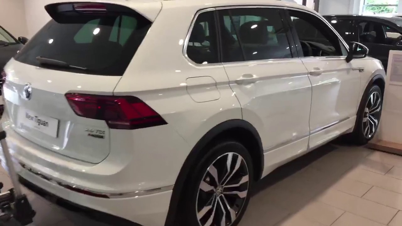 volkswagen tiguan r line 2 0tdi 4wd in pure white metallic. Black Bedroom Furniture Sets. Home Design Ideas