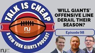 Will Giants' offensive line derail their season?