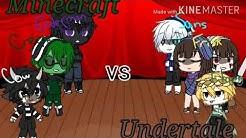Minecraft vs Undertale - Singing Battle - Gachalife