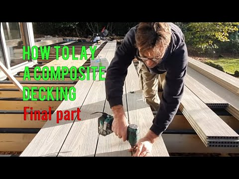 How to lay a composite deck. Cut + Fix the deck. Final part of How to build a deck by Robin Clevett