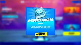 *NEW* V-BUCK CHALLENGES IΝ FORTNITE! (Free V-Bucks)