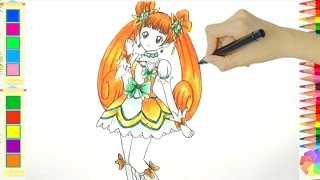 Cách vẽ Cure Rosetta Trong Dokidoki Precure - How to draw Cure Rosetta