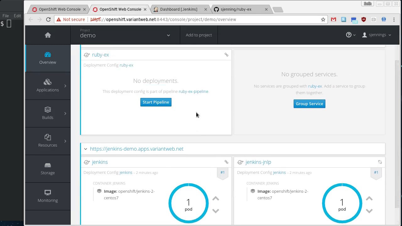 Using OpenShift Pipelines with Webhook Triggers