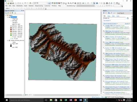 How To Create Tin From Raster File