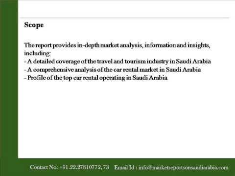Market Report on Saudi Arabia The Future of Car Rental  to 2018