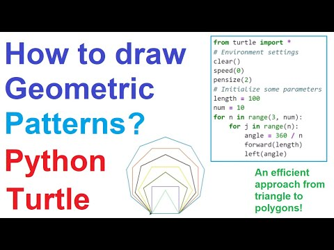 How to Draw Geometric Patterns with Python Turtle #7