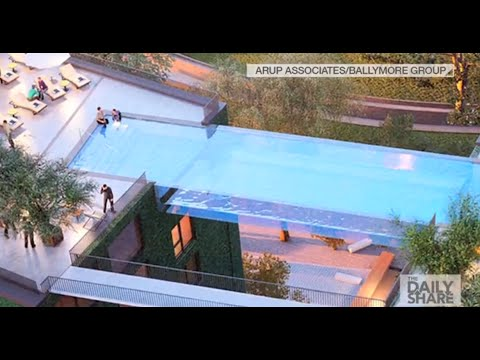 Sky Pool swim through the air in the world's first 'sky pool' - youtube