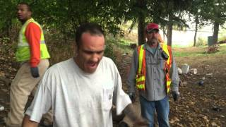 odot homeless sweep at n greeley 10 21 pdx