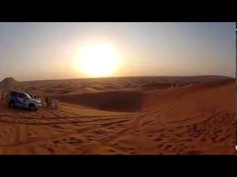 Amazing 4x4 stunt almost falls into a 25 meter bunker - DUBAI desert HD