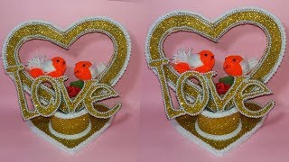 how to make showpiece ||crafts with cardboard ||gift itam showpicee||dustu pakhe