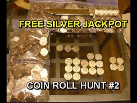 FREE SILVER JACKPOT - COIN ROLL HUNT How-To -  Can You WEIGH
