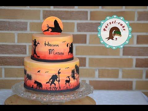 Knig der Lwen Torte Hakuna Matata Torte Motivtortenvon Purzelcake  YouTube