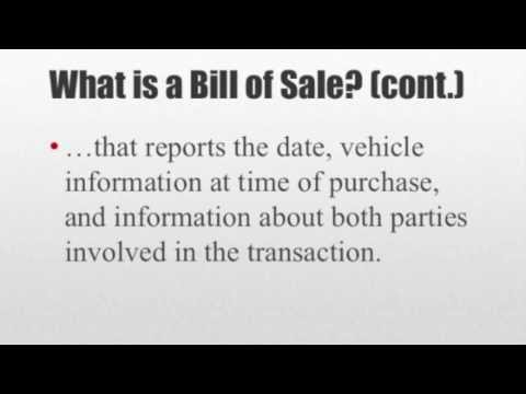 How To Write A Bill Of Sale - Youtube