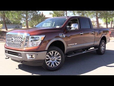 2016 Nissan Titan XD Platinum Reserve (Cummins Diesel) - Start Up, Test Drive & In Depth Review