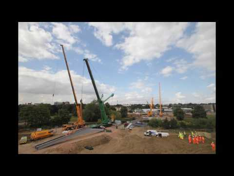 Waterside Campus Road Bridge Installation (Part 1)