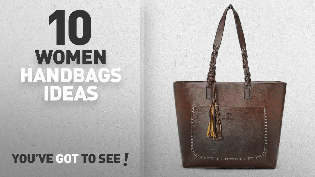 da5ee201e9 Top 10 Handbag Woman   Winter 2018    OURBAG Women Vintage PU Leather Tote  Shoulder Bag Handbag Big