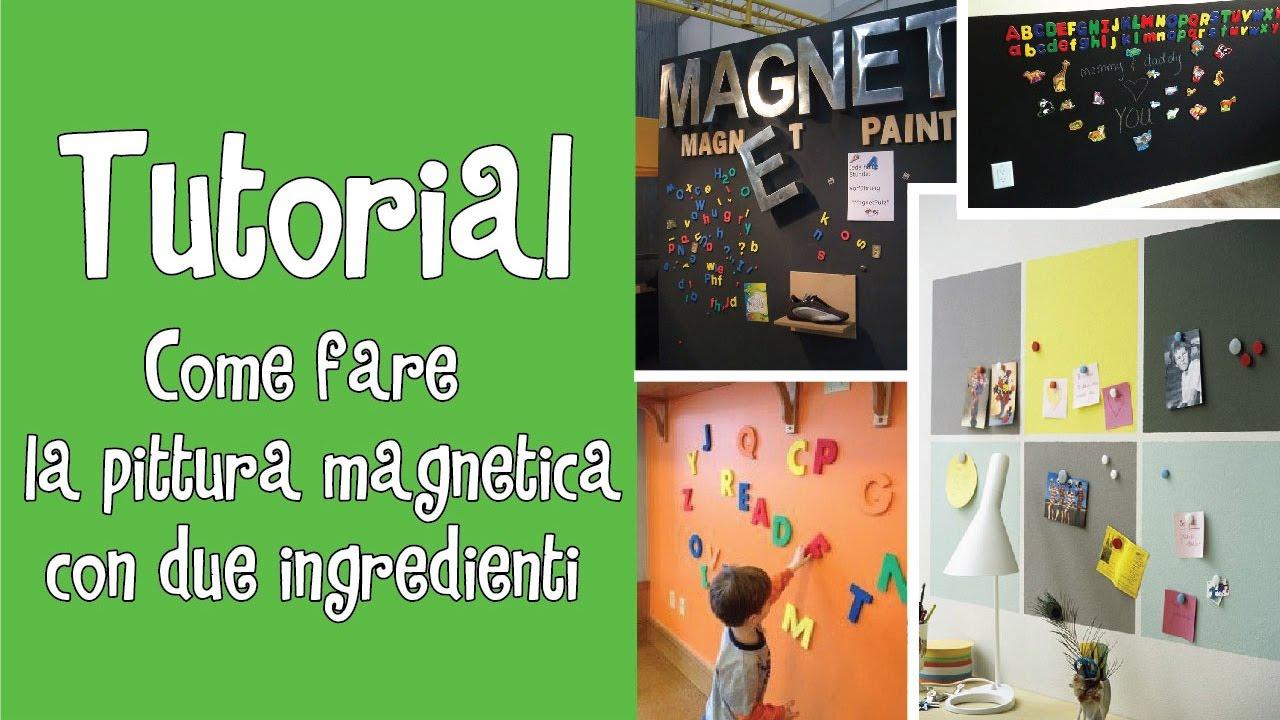 Vernice Lavagna Magnetica Colorata tutorial come fare la pittura magnetica con due ingredienti ^ ^