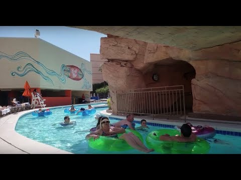 MGM Grand Lazy River Pool Tour And Overview | Las Vegas [⁴ᴷ⁶⁰]