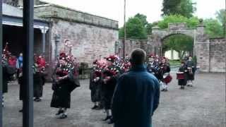Lockerbie Pipe Band at Hoddom Castle Caravan Park, 4