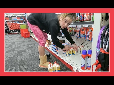 GLUE SHOPPING FOR SLIME MAKING | Flippin' Katie