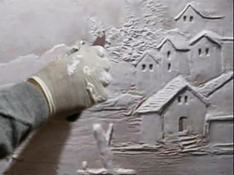 Wall Art Sculpture Houses Scene And Trees Youtube