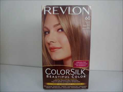 Copy Of Revlon Colorsilk 60 Dark Ash Blonde Hair Dye Youtube