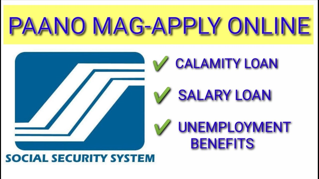 how to apply for sss calamity loan online